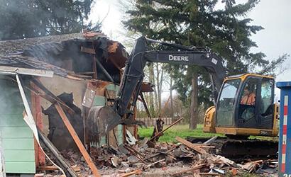 We demolish and then remove all debris.